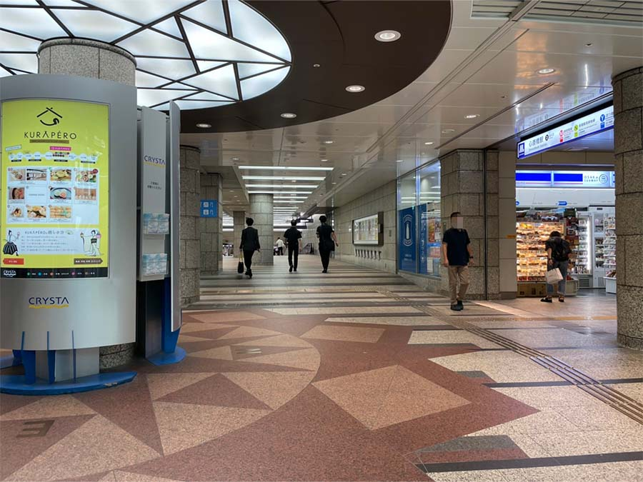ローソン S OSL心斎橋駅北2号店を直進